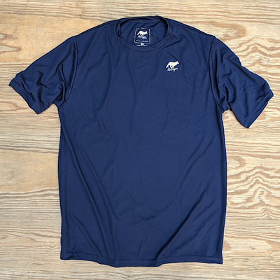 Runyon Canyon Apparel Mens Navy Blue Training Shirt Made In USA