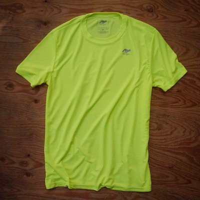 Runyon Canyon Apparel Mens Neon Yellow Workout Shirt Made In USA