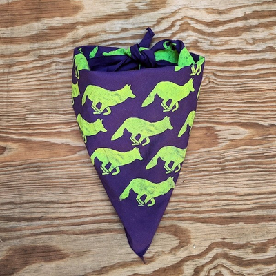 Runyon Canyon Apparel Signature Purple Neon Bandana Made In USA