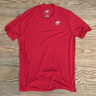Runyon Canyon Apparel Mens Red Classic Trail Shirt great for Running, Hiking, Trail, Outdoor Fitness made in USA