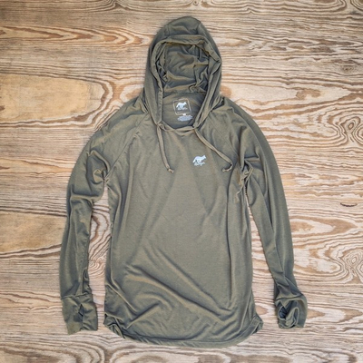 Men's Sierra Sage Fitness Hoodie Made In USA Performance wear Hiking, Running, Trails, Outdoor Fitness