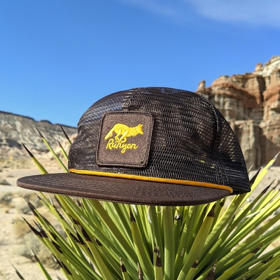 Runyon Toyon Gold Reflective Trucker Hat American Made In USA Red Rock Canyon State Park