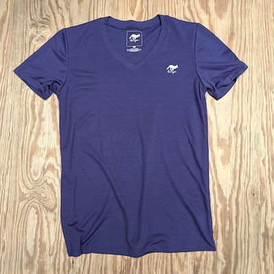 Runyon Canyon Apparel Women's Deep Purple Performance Trail Shirt great for Running, Hiking, Outdoor Fitness Made In USA
