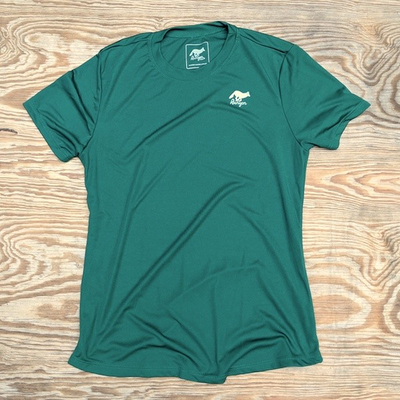 Runyon Canyon Apparel Womens Forest Green Shirt great for Running, Hiking, Outdoor Fitness Made in USA