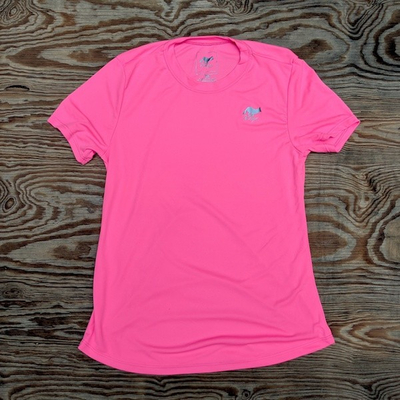 Runyon Canyon Apparel Womens Totally Hot Pink Training Shirt great for Running, Hiking, Outdoor Fitness Made in USa