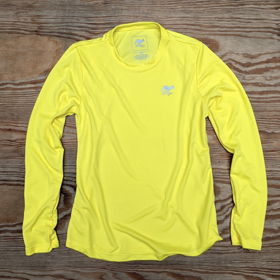 Runyon Canyon Apparel Womens Mellow Yellow Long Trail Shirt great for Running, HIking, Outdoor Fitness Made In USA