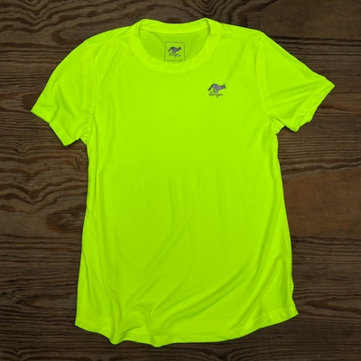 Runyon Canyon Apparel Womens Neon Yellow Training Shirt great for Running, Hiking, Outdoor Fitness Made in USa