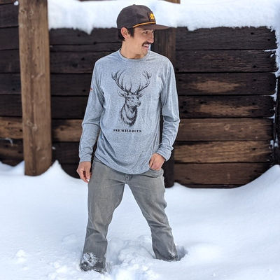 Wild Buck Deer Outdoor Wildlife Fitness Shirt | American Made In USA Performance Fitness Apparel