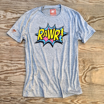 American Made In USA Mens RAWR! Shirt Performance Fitness Sportswear Runyon Canyon Apparel