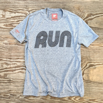 American Made In USA Mens Run Shirt Performance Fitness Sportswear Runyon Canyon Apparel