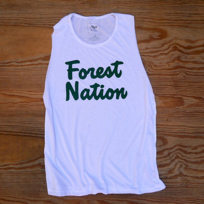 Runyon Wonen's Forest Nation Muscle Tank great for Running, Hiking, Trails, Outdoor Fitness Made In USA