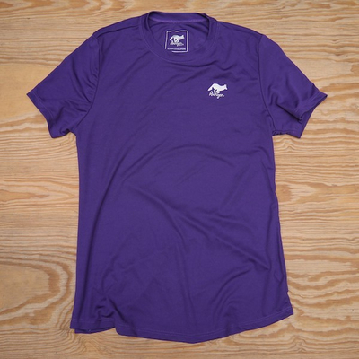 Runyon Canyon Apparel Womens Purple Training Shirt great for Running, Hiking, Outdoor Fitness Made in USa