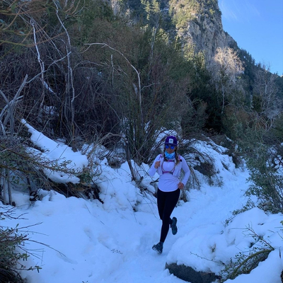 Runyon American Made Purple Trucker Hat Running Hiking Outdoor Fitness